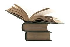 les livres ont isolé le vieux blanc Photos libres de droits