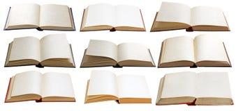 Les livres ont placé d'isolement Photographie stock