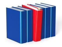 Les livres rament une personne de manuel de direction sélectionnée par rouge Images stock