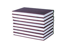 Les livres sont soigné empilés image libre de droits