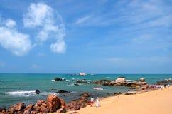 Les locations de bateau dans le ` s du monde de parc finissent, la Chine, Hainan Images libres de droits
