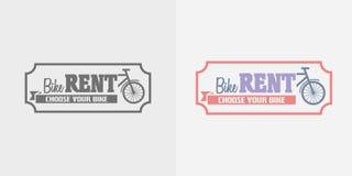 Les locations de vélo dirigent le logo, marquent ou badge le calibre de conception illustration stock