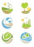 Les logos sur l'écologie de thème Photographie stock libre de droits