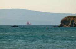 les lozenets s'approchent du paysage marin Images libres de droits