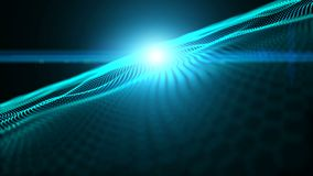 Les lumières brillantes, étoiles, particules, énergie ondule, sans couture illustration libre de droits