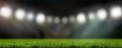 Les lumières 3d de stade de sports rendent le fond Image libre de droits