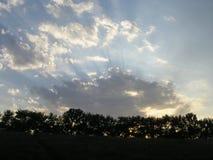 Les lumières d'un soleil Images libres de droits