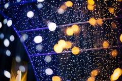 Les lumières de Bokeh de vert jaune et de rose de fond abstrait adapteraient pour chaque festival photo libre de droits
