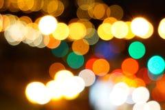 Les lumières de Noël pendant la nuit photo stock