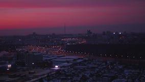 Les lumières de ville la nuit Tir des tailles avec le bourdon clips vidéos