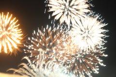 Les lumières des feux d'artifice Photo stock