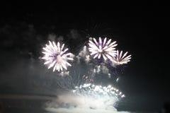 Les lumières des feux d'artifice Photographie stock libre de droits