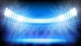 Les lumières sur le grand stade Illustration de vecteur illustration de vecteur