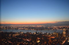 Les lumières venant dessus à New York, Amérique Image libre de droits