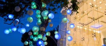 Les lumières vendent l'art au détail Photo stock