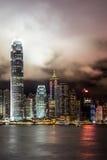 Les lumières de Hong Kong Photographie stock libre de droits