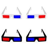 Les lunettes 3d ou les lunettes Photos stock