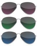Les lunettes de soleil noires ont placé Photo libre de droits