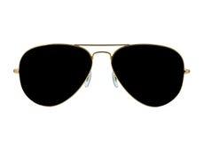 Les lunettes de soleil ont isolé le blanc images stock