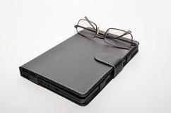 Livre électronique de lunettes Images stock