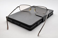 Livre électronique de lunettes Images libres de droits