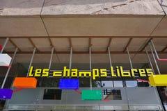 Les mâche la bibliothèque et le musée de Libres à Rennes, France image libre de droits