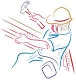 Les métiers équipent au travail illustration libre de droits