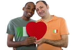 Les mêmes couples de sexe en Irlande Image libre de droits
