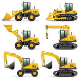 Les machines de construction de vecteur ont placé 3 Images stock
