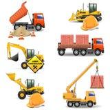 Les machines de construction de vecteur ont placé 4 Illustration de Vecteur