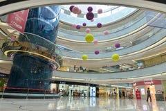 Les magasins commerciaux du ¼ Œ de hallï de bâtiment font des emplettes à Tchang-cha Wanda Plaza, centre commercial Image stock
