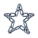 Les maillons de chaîne ont uni dans une étoile illustration de vecteur