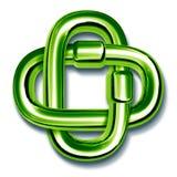 Les maillons de chaîne verts ont joint ensemble Photographie stock