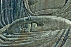 Les mains de Bouddha. Photo stock