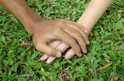 Les mains de l'amoureux Images stock