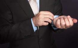 Les mains de l'homme Image stock