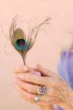 Les mains de la femme aînée Images stock