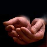 Les mains des hommes Image stock