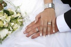 Les mains du couple Photographie stock