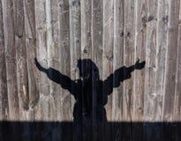 Les mains lèvent le silouette Photo stock