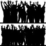 Les mains lèvent les silhouettes 4 Images stock