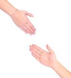 les mains ont isolé deux image libre de droits