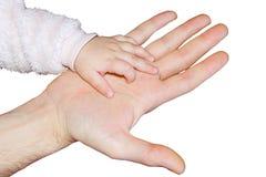 les mains ont isolé le blanc deux Image libre de droits