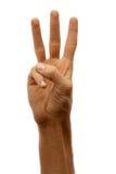 Les mains parent. Trois Photos libres de droits