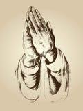 Les mains prient avec la foi pleine Photos libres de droits