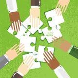Les mains team ensemble le travail illustration libre de droits