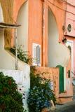 Les maisons colorées de Procida Image stock
