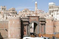 Les maisons décorées de vieux Sana Photos libres de droits