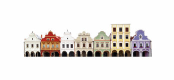 les maisons historiques de bloc ont isolé Images libres de droits