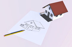 Les maisons rêveuses viennent vrai Image stock